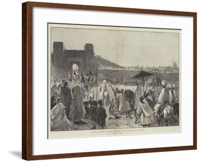 The Sultan of Morocco's Return to Mequinez from His Pilgrimage to Muley Edris-Gabriel Nicolet-Framed Giclee Print