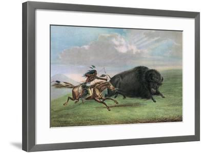 Print after Buffalo Hunt by George Catlin, C.1920-George Catlin-Framed Giclee Print