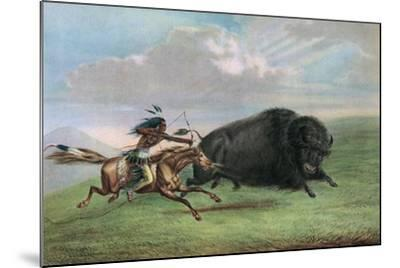 Print after Buffalo Hunt by George Catlin, C.1920-George Catlin-Mounted Giclee Print