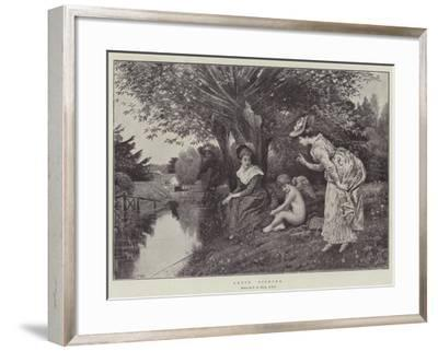 Cupid Fishing-George Adolphus Storey-Framed Giclee Print