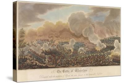 The Battle of Waterloo-George Cruikshank-Stretched Canvas Print