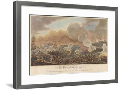 The Battle of Waterloo-George Cruikshank-Framed Giclee Print