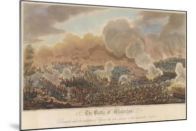 The Battle of Waterloo-George Cruikshank-Mounted Giclee Print