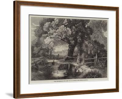 The Foot-Bridge in the Lane-Frederick William Hulme-Framed Giclee Print