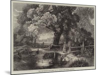 The Foot-Bridge in the Lane-Frederick William Hulme-Mounted Giclee Print