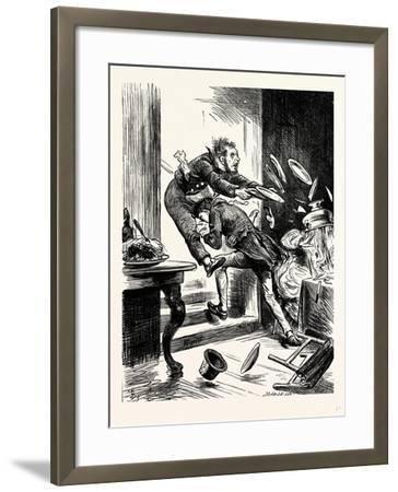 Charles Dickens Sketches by Boz One Gentleman Was Observed Suddenly to Rush from the Table-George Cruikshank-Framed Giclee Print