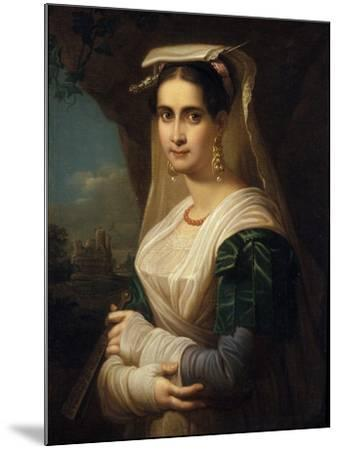 Countrywoman from Albano, 1818-Friedrich Ludwig Theodor Doell-Mounted Giclee Print