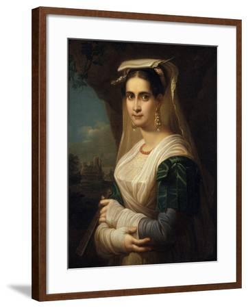 Countrywoman from Albano, 1818-Friedrich Ludwig Theodor Doell-Framed Giclee Print
