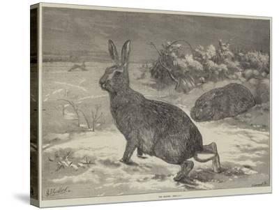 The Months, February-George Bouverie Goddard-Stretched Canvas Print