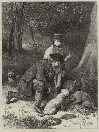 Truffle-Hunting-George Bouverie Goddard-Stretched Canvas Print
