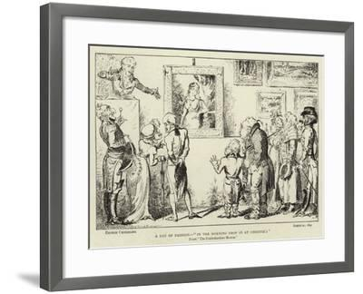 A Day of Fashion, In the Morning Drop in at Christie'S-George Cruikshank-Framed Giclee Print