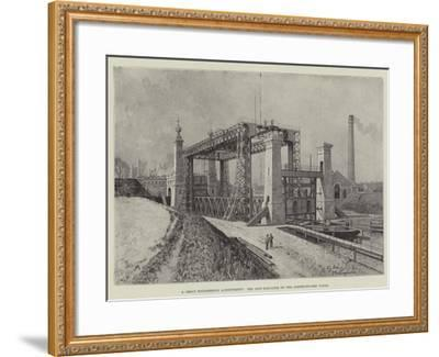 A Great Engineering Achievement, the Ship-Elevator on the Dortmund-Ems Canal-Fritz Stoltenberg-Framed Giclee Print
