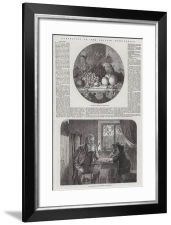 Exhibition of the British Institution-George Lance-Framed Giclee Print