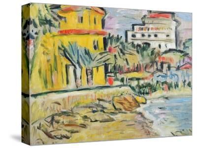 Mediterranean Town-George Leslie Hunter-Stretched Canvas Print