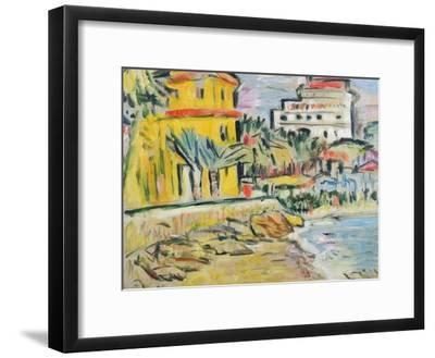 Mediterranean Town-George Leslie Hunter-Framed Giclee Print