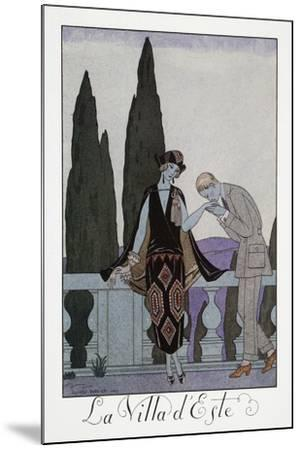 Villa D'Este Near Florence-Georges Barbier-Mounted Giclee Print
