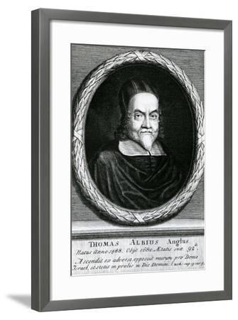 Portrait of Thomas Albius (White) (1588-1680), 1713-George Vertue-Framed Giclee Print