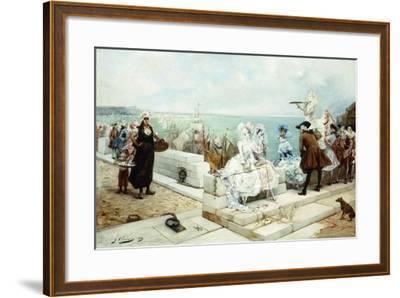 Elegant Figures Watching the Regatta, 1889-Georges Clairin-Framed Giclee Print