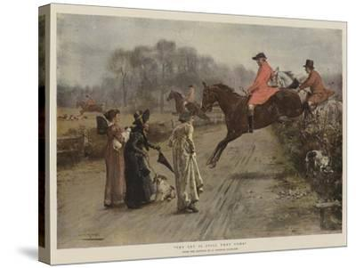 The Cry Is Still They Come-George Goodwin Kilburne-Stretched Canvas Print
