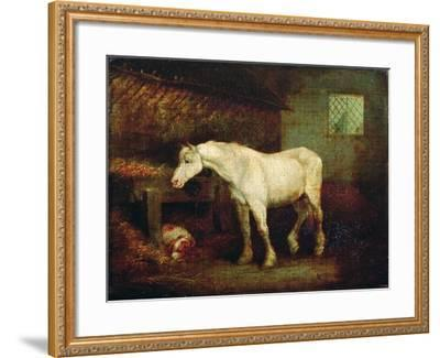 An Old Grey Mare at a Manger-George Morland-Framed Giclee Print