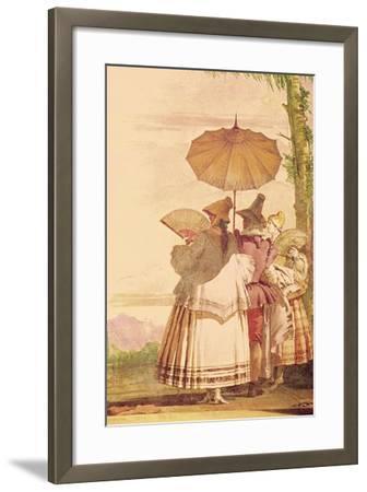 The Summer Promenade, C.1757-Giandomenico Tiepolo-Framed Giclee Print