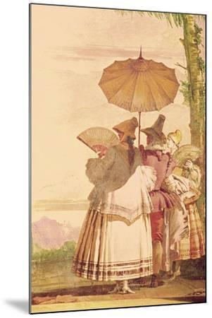 The Summer Promenade, C.1757-Giandomenico Tiepolo-Mounted Giclee Print