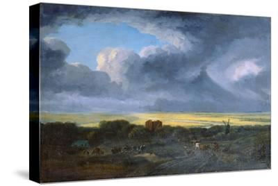Stormy Landscape, 1795-Georges Michel-Stretched Canvas Print