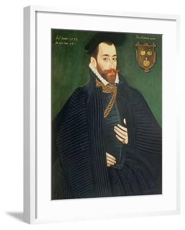 Portrait of a Gentleman, Traditionally Called a Member of the Dacre Family, 1571-George Gower-Framed Giclee Print