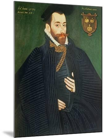 Portrait of a Gentleman, Traditionally Called a Member of the Dacre Family, 1571-George Gower-Mounted Giclee Print