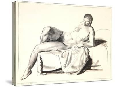 Nude Study, Classic on a Couch, 1923-24-George Wesley Bellows-Stretched Canvas Print