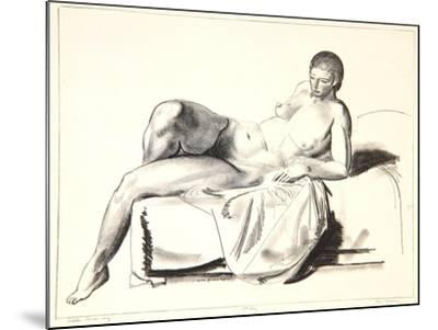Nude Study, Classic on a Couch, 1923-24-George Wesley Bellows-Mounted Giclee Print