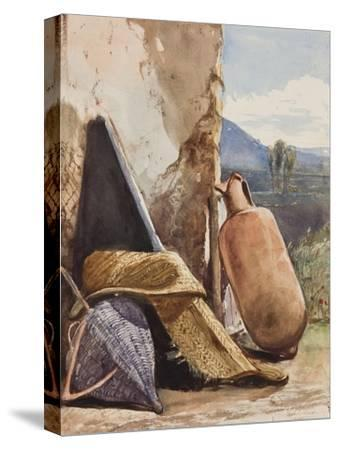 Baskets and Amphora-Giacinto Gigante-Stretched Canvas Print