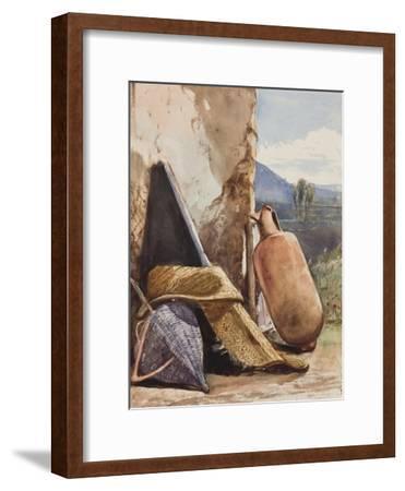 Baskets and Amphora-Giacinto Gigante-Framed Giclee Print