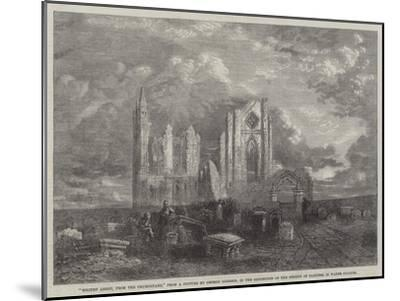 Whitby Abbey, from the Churchyard, in the Exhibition of the Society of Painters in Water Colours-George Haydock Dodgson-Mounted Giclee Print