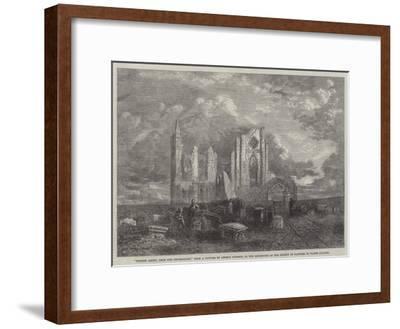 Whitby Abbey, from the Churchyard, in the Exhibition of the Society of Painters in Water Colours-George Haydock Dodgson-Framed Giclee Print