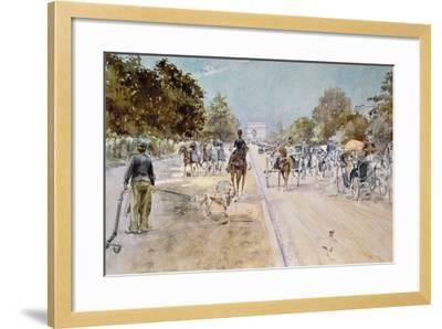 Carriages on the Champs Elysees-Georges Stein-Framed Giclee Print