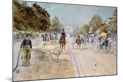 Carriages on the Champs Elysees-Georges Stein-Mounted Giclee Print