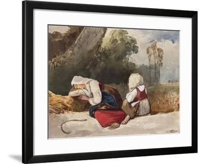 Gleaners Resting-Giacinto Gigante-Framed Giclee Print
