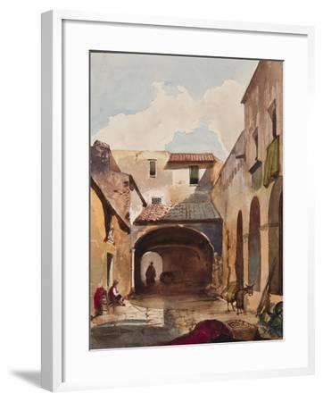 Passage and Street with Figures-Giacinto Gigante-Framed Giclee Print