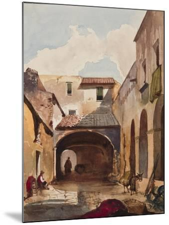 Passage and Street with Figures-Giacinto Gigante-Mounted Giclee Print