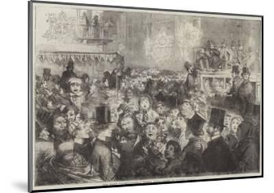 The Peace Illuminations, a Street Scene-George Housman Thomas-Mounted Giclee Print