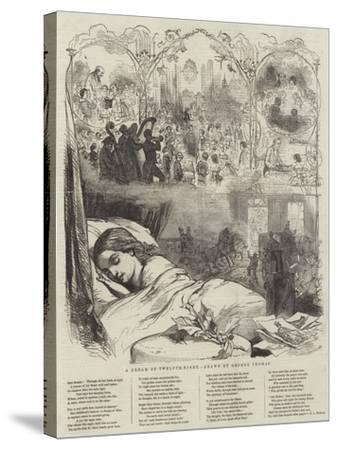 A Dream of Twelfth-Night-George Housman Thomas-Stretched Canvas Print