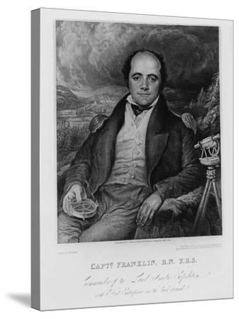 Portrait of Captain John Franklin (1786-1847) Engraved by Frederick Christian Lewis (1779-56) 1824-George Robert Lewis-Stretched Canvas Print