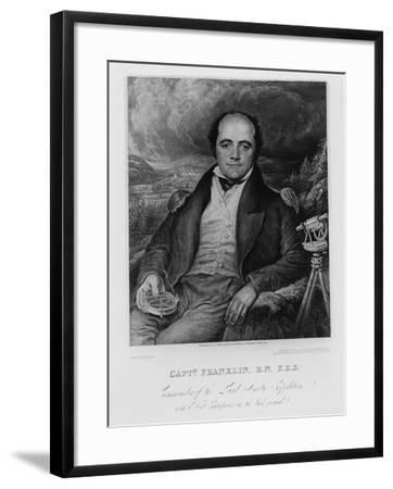 Portrait of Captain John Franklin (1786-1847) Engraved by Frederick Christian Lewis (1779-56) 1824-George Robert Lewis-Framed Giclee Print
