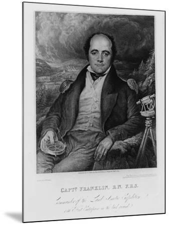 Portrait of Captain John Franklin (1786-1847) Engraved by Frederick Christian Lewis (1779-56) 1824-George Robert Lewis-Mounted Giclee Print