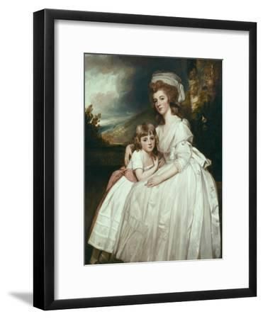 Portrait of Mrs Richard Pryce Corbet and Her Daughter, 1780-George Romney-Framed Giclee Print