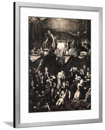 The Sawdust Trail, 1917-George Wesley Bellows-Framed Giclee Print