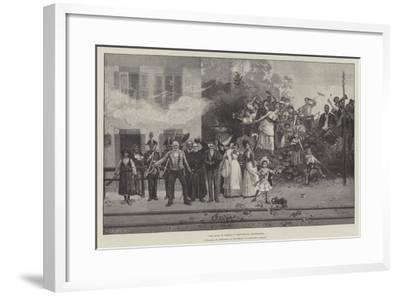 The King Is Coming!-Giacomo Mantegazza-Framed Giclee Print