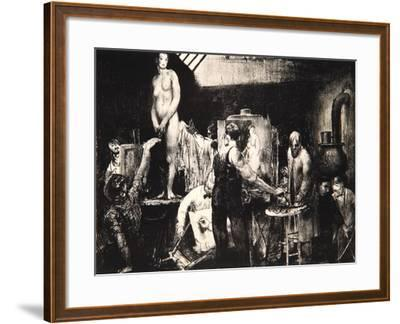 The Life Class, 1917-George Wesley Bellows-Framed Giclee Print