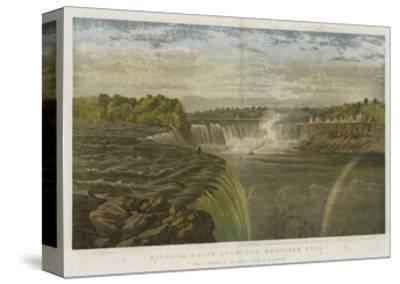 Niagara Falls from the American Side-George Henry Andrews-Stretched Canvas Print
